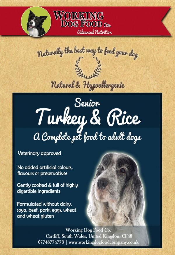 Naturally preserved & Hypo-allergenic Senior/Light Turkey & Rice Complete Dry Dog Food